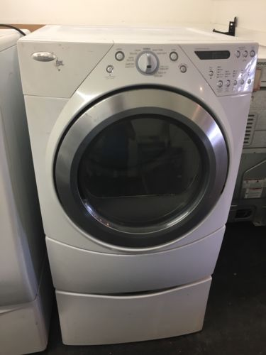 Front Load Was Whirlpool Cabrio Gas Dryer With Pedalstal And Warranty