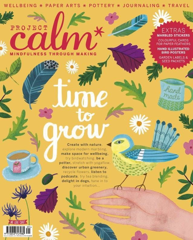 PROJECT CALM Mindfulness Through Making TIME TO GROW Cards BIRD POSTERS Labels