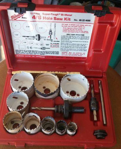 Milwaukee 13 Pc Bi-Metal 4/6 Hole Saw Kit 49-22-4066 Free Shipping