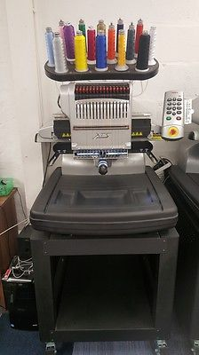 Melco Amaya XTS Embroidery Machine With Stand