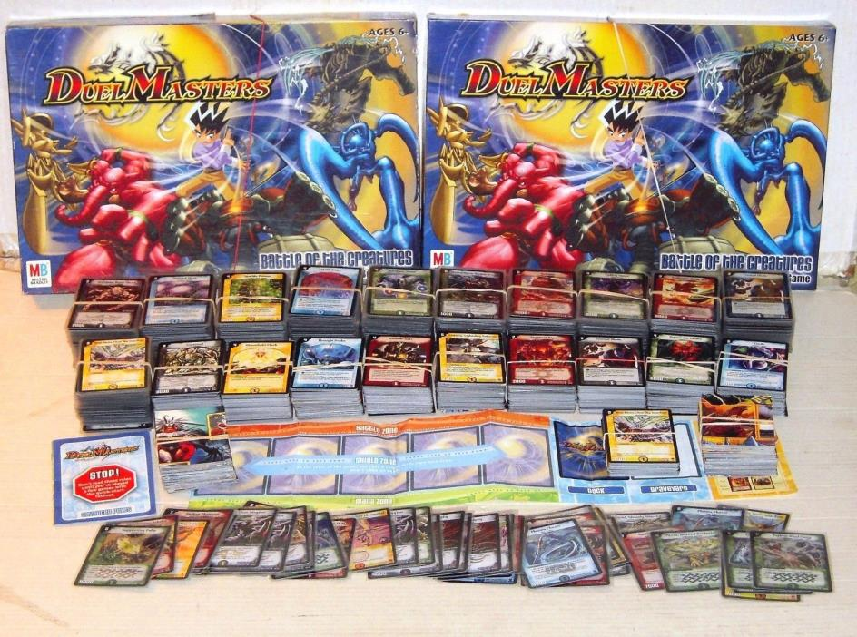 LOT OF 2050 DUEL MASTERS CARDS/180 PUZZLE & 45 HOLO CARDS/2 GAMES