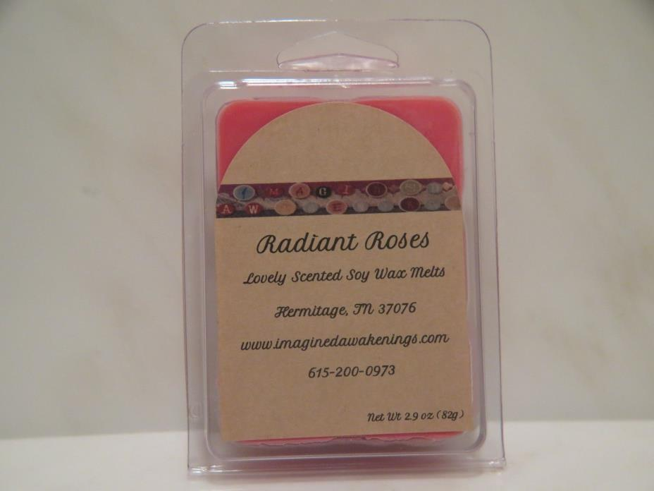 Soy Wax Melt - Radiant Roses Soy Wax Tart - Floral Scented Wax Melt