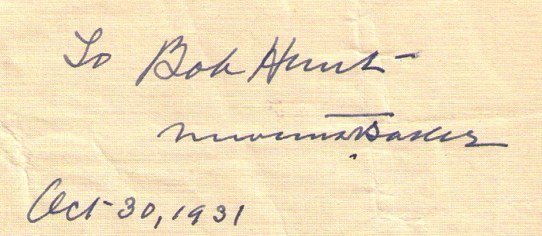 Newton Baker autograph 1931–Wilson Secretary of War WW1–cabinet-Cleveland mayor