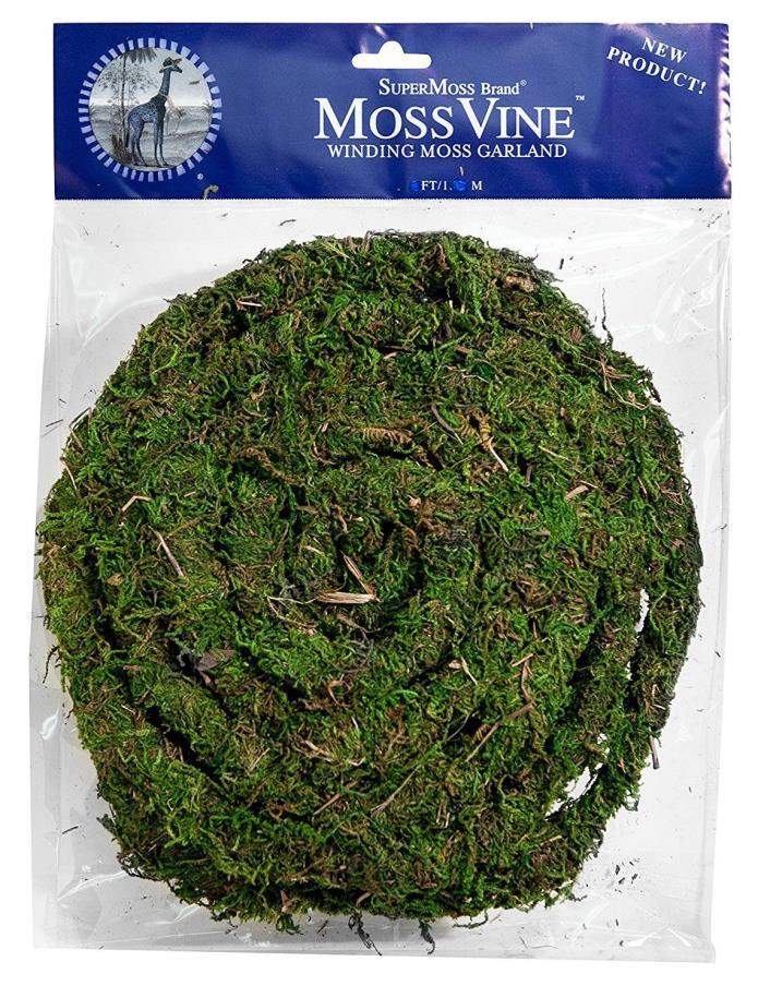 SuperMoss (22711) MossVine Garland, Fresh Green, 12ft