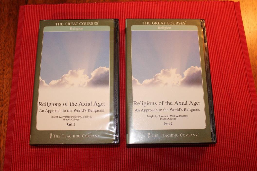 Great Courses Religions of the Axial Age CDs Teaching Company