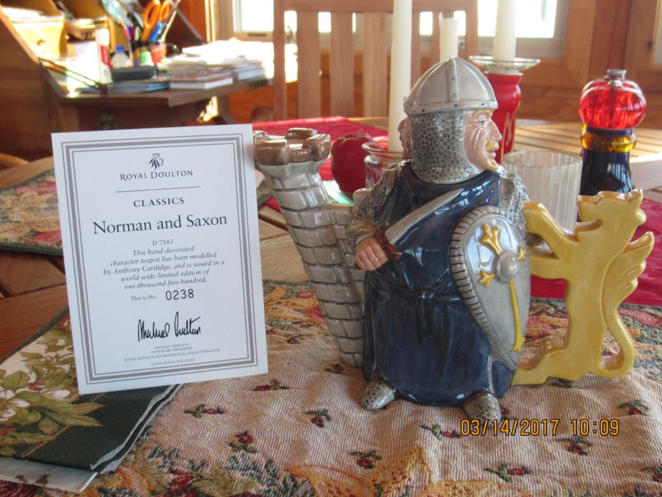 ROYAL DOULTON CHARACTER TEAPOT NORMAN AND SAXON #D7183