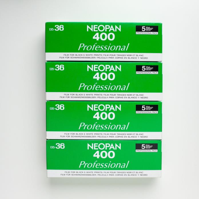 20 Rolls of Fuji Neopan 400 35mm Film, 36 Exposure Rolls, Expired, Stored Cold!