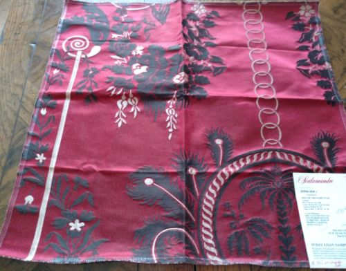SCALAMANDRE Fabric Remnant - MEUSE ORNAMENTAL 04- LAMPAS - ITALY  18