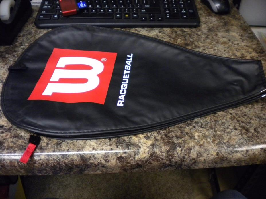 WILSON RACQUETBALL COVER BLACK/RED/WHITE NEW WITHOUT TAGS  FAST/FREE SHIPPING