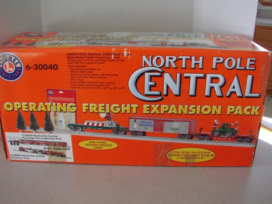 Rare Lionel North Pole Central Freight Expansion Pack 6-30040