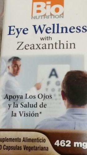Bio Nutrition Inc Eye Wellness with Zeaxanthin - 60 Vegetarian Capsules