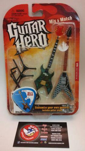 McFarlane Guitar Hero Duets Miniature Guitars Voracious & Widowmaker with Stand