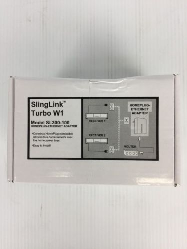 Dish Network Slinglink Turbo W1 SL300-100 Ethernet Sling Adapter Fast Free ship!