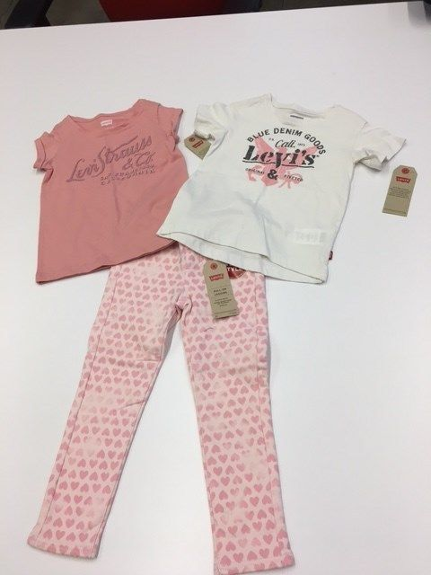 Levi Girls NWT Size 4T XS pull up leggings and two tops