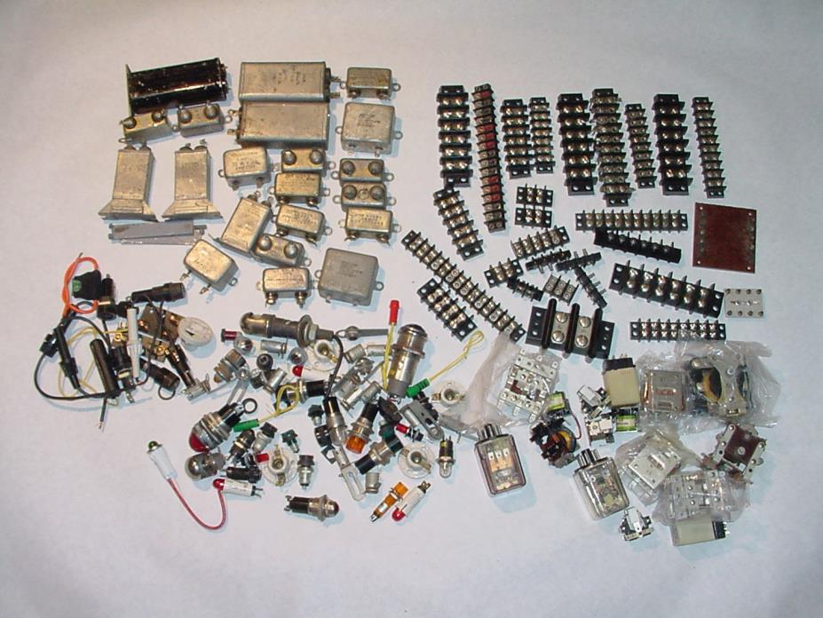 ELECTRONIC COMPONENT LOT PART REPAIR CAPACITOR PILOT LIGHT TERMINAL BUS & MORE