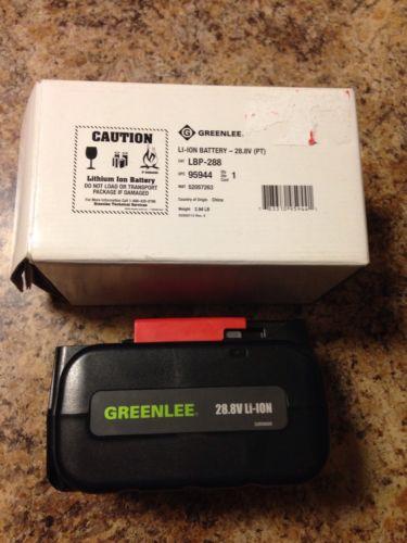 Greenlee 28.8V LBP288 Li-Ion Battery LRH288 Rotary Hammer Drill New