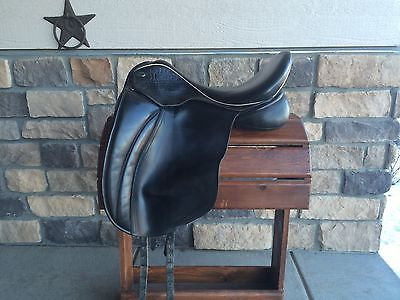 Used Hulsebas Special Warmblood Dressage Saddle 17.5 Medium