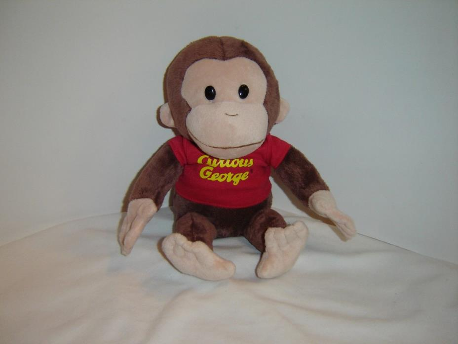 GUND Curious George Plush Monkey Stuffed Animal Toy w/ Classic Red Shirt 14