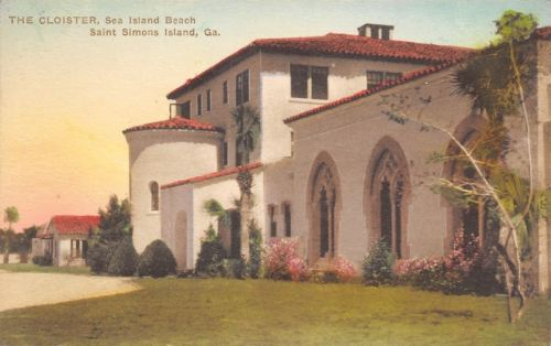 Saint Simons Island Georgia~The Cloister Sea Island Beach~1910 Postcard