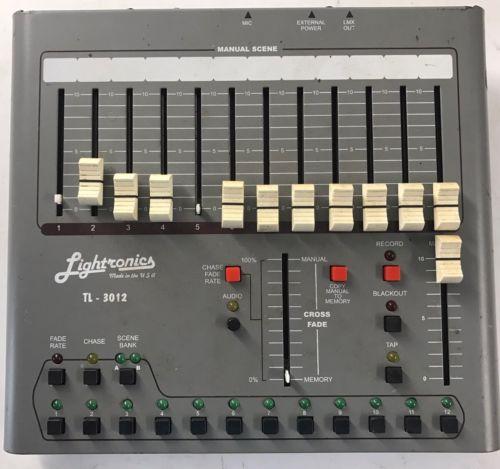 Lightronics TL3012 - 12 Channel Light console - 5-Pin DMX DPC