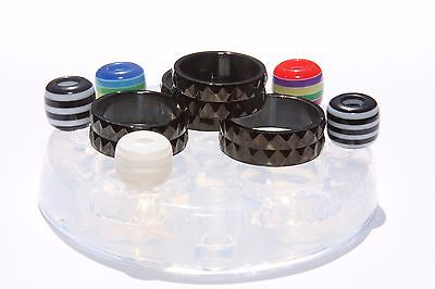 Clear silicone Ring mold.Faceted size 7,8,9,10+5European beads,hole 5mm. (Z-17)