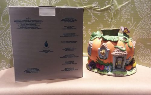 Partylite Harvest Pumpkin tealight house