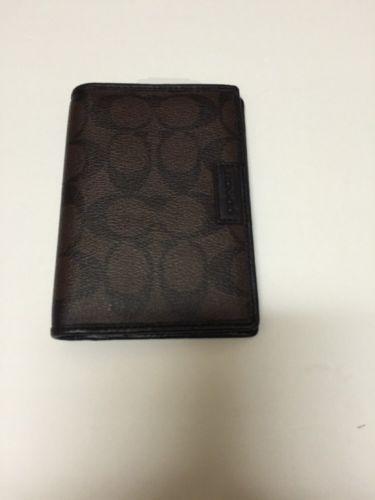 Coach Unisex Credit Card Holder & Passport Case $98