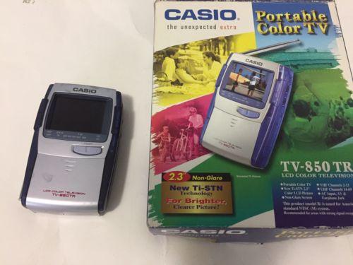 Vintage CASIO LCD COLOR TELEVISION TV-850TR