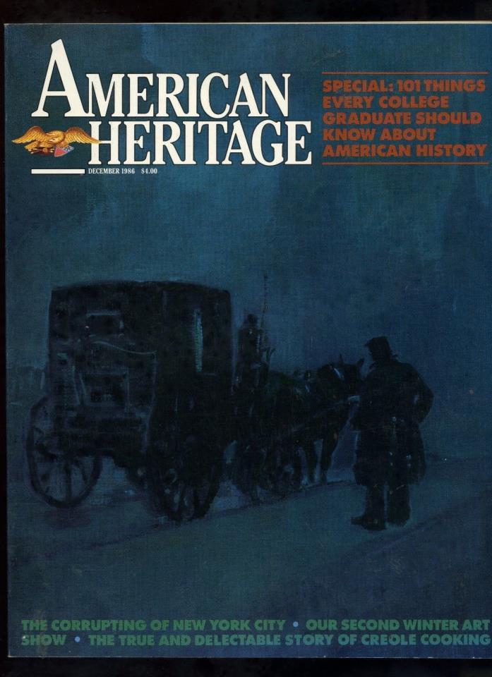 AMERICAN HERITAGE magazine Vintage 1986 Corruptions of New York City