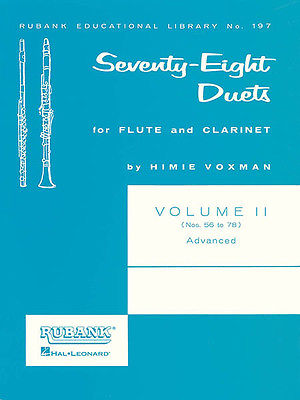 Rubank 78 Duets Flute & Clarinet Vol 2 Nos 56-78 Advanced Sheet Music Book NEW