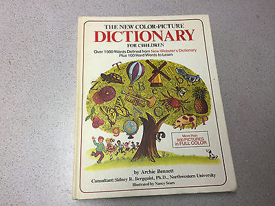 VINTAGE THE NEW COLOR PICTURE DICTIONARY FOR CHILDREN BOOK ARCHIE BENNETT SEARS