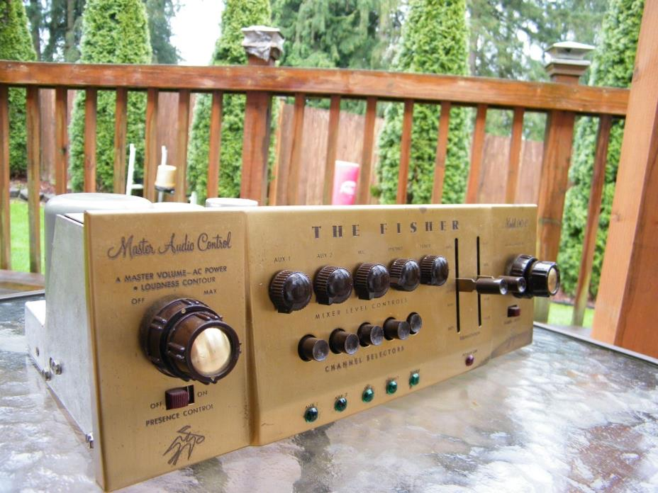 Fisher 90-C Tube Preamp tested !