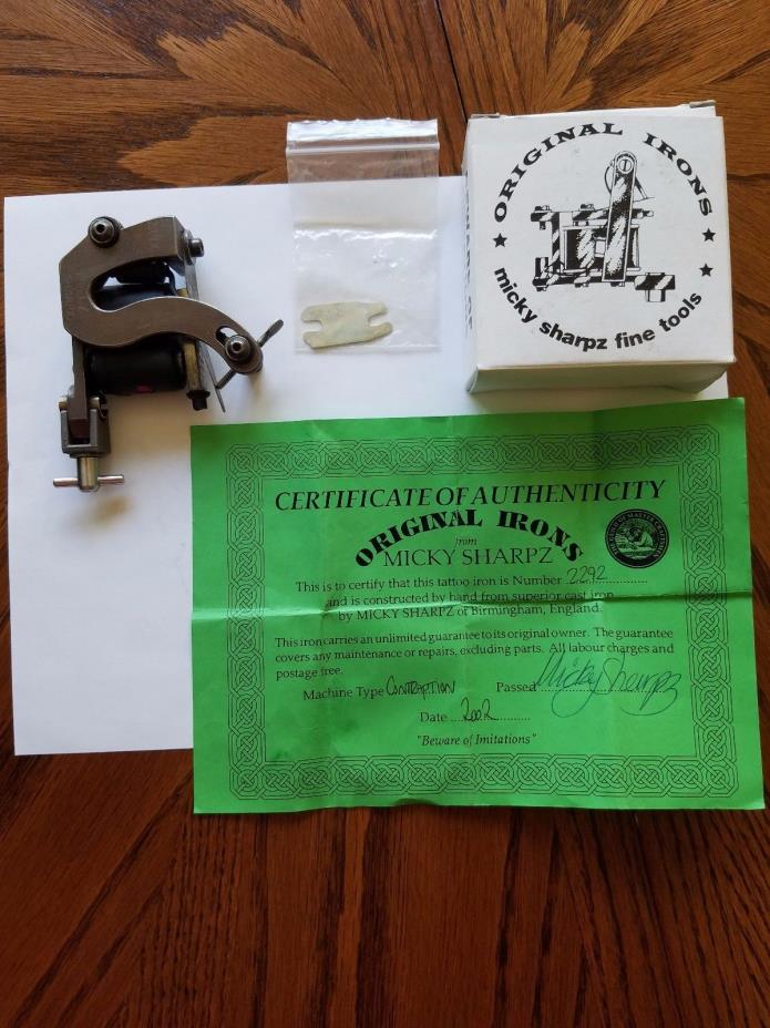 Tattoo Machine by Micky Sharpz w/ Certificate of Authenticity