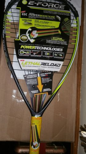 racquetball racquet e-force lethal reload 190
