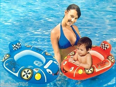 NEW Splash & Play Bestway ABC Pool Racer Car Swim Baby Care Seat Float ages 1-2