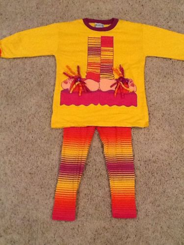 Zoodles 2 pc Outfit Ballarina Legs Top & Leggings Size 4