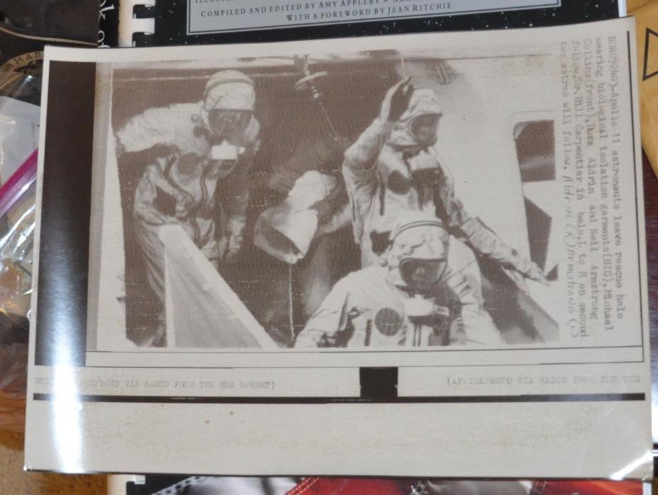 Vintage Apollo 11 Photocopy   Aldrin Armstrong Collins USS Hornet