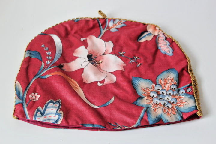 Vintage 80's Red Quilted Teapot Cover Tea Cozy