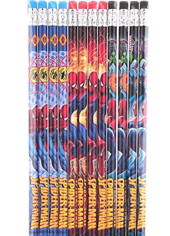 Marvel Spiderman Spider Sense 2 Pack Pencils (12 each pack)