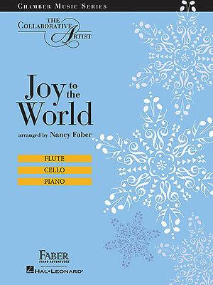 Joy to the World Flute Cello Piano Trio Christmas Sheet Music Faber Book NEW