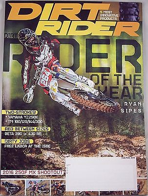 Dirt Rider Magazine February March 2016 Ryan Sipes Rider Of The Year NEW