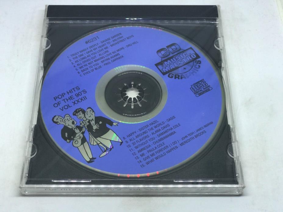 THE MUSIC MAESTRO KARAOKE POP HITS OF THE 90's VOL XXXII CD+G 6231