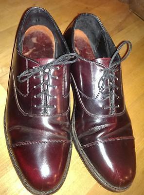 Vintage MEN'S QUALITY Florsheim Shoes sz 7 burgundy LIFE IS BEAUTIFUL CONDITION