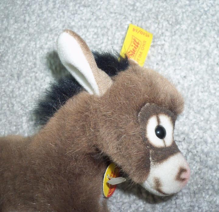 Steiff Plush Assy Donkey Small Collectible Stuffed Animal Toy Austria 1510/14