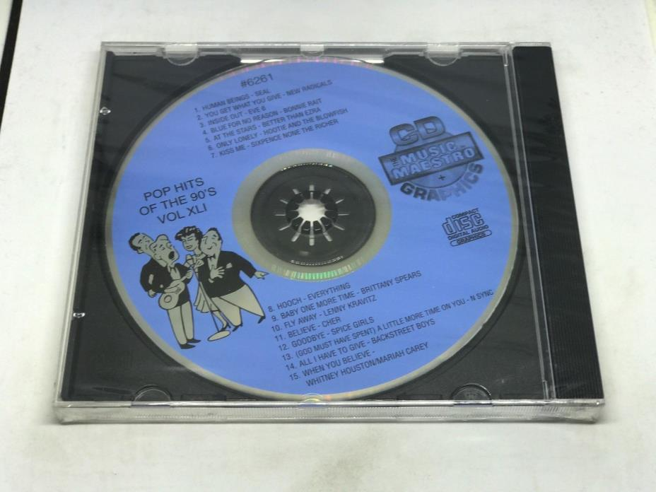 THE MUSIC MAESTRO KARAOKE POP HITS OF THE 90's VOL XLI CD+G 6261