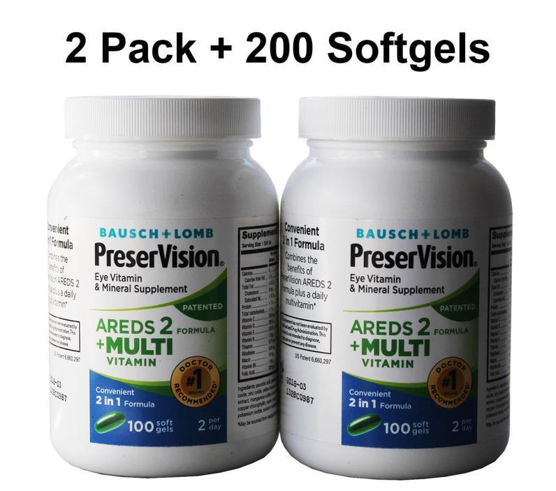 Bausch + Lomb PreserVision AREDS 2 + Multi Vitamin Formula 200 Softgels  03/2018