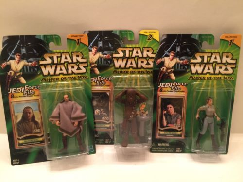 star wars lot Of 3 Qui-Gon Jinn,Chewbacca,and Leia Organs, Unopened ,new