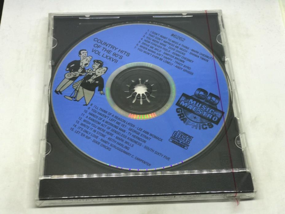 THE MUSIC MAESTRO KARAOKE COUNTRY HITS OF THE 90's VOL LXXVII CD+G 6262