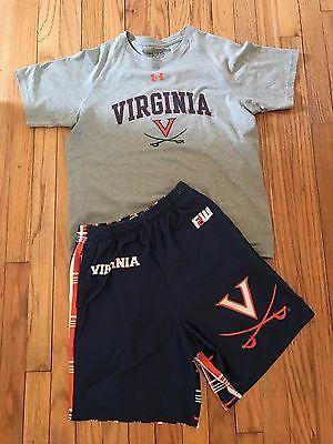 boys VIRGINIA LACROSSE shorts and top - size large & Xlarge