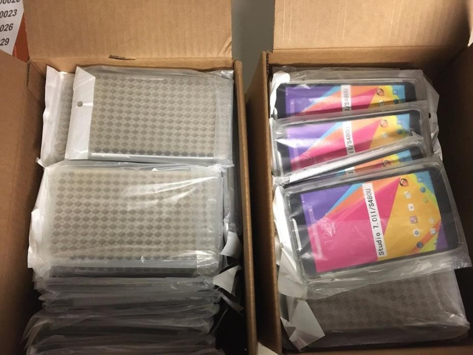 [100 Units] of Silicone TPU Diamond Gel Cases Covers for BLU Studio 7.0 II Clear